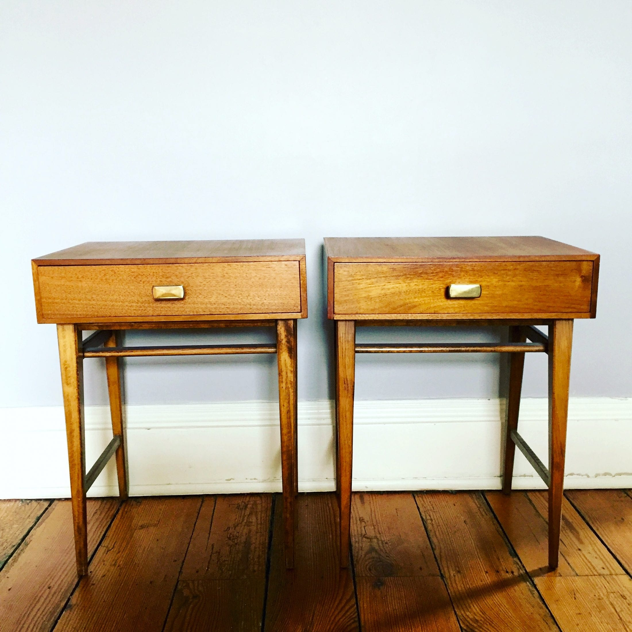 Charming Meredew Mid Century Bedside Tables