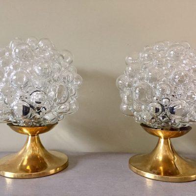 bubble lamps pair
