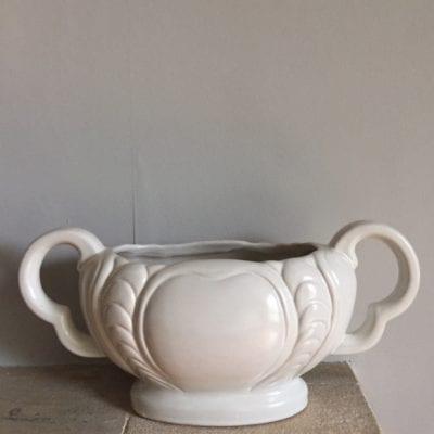 White Mantle Vase