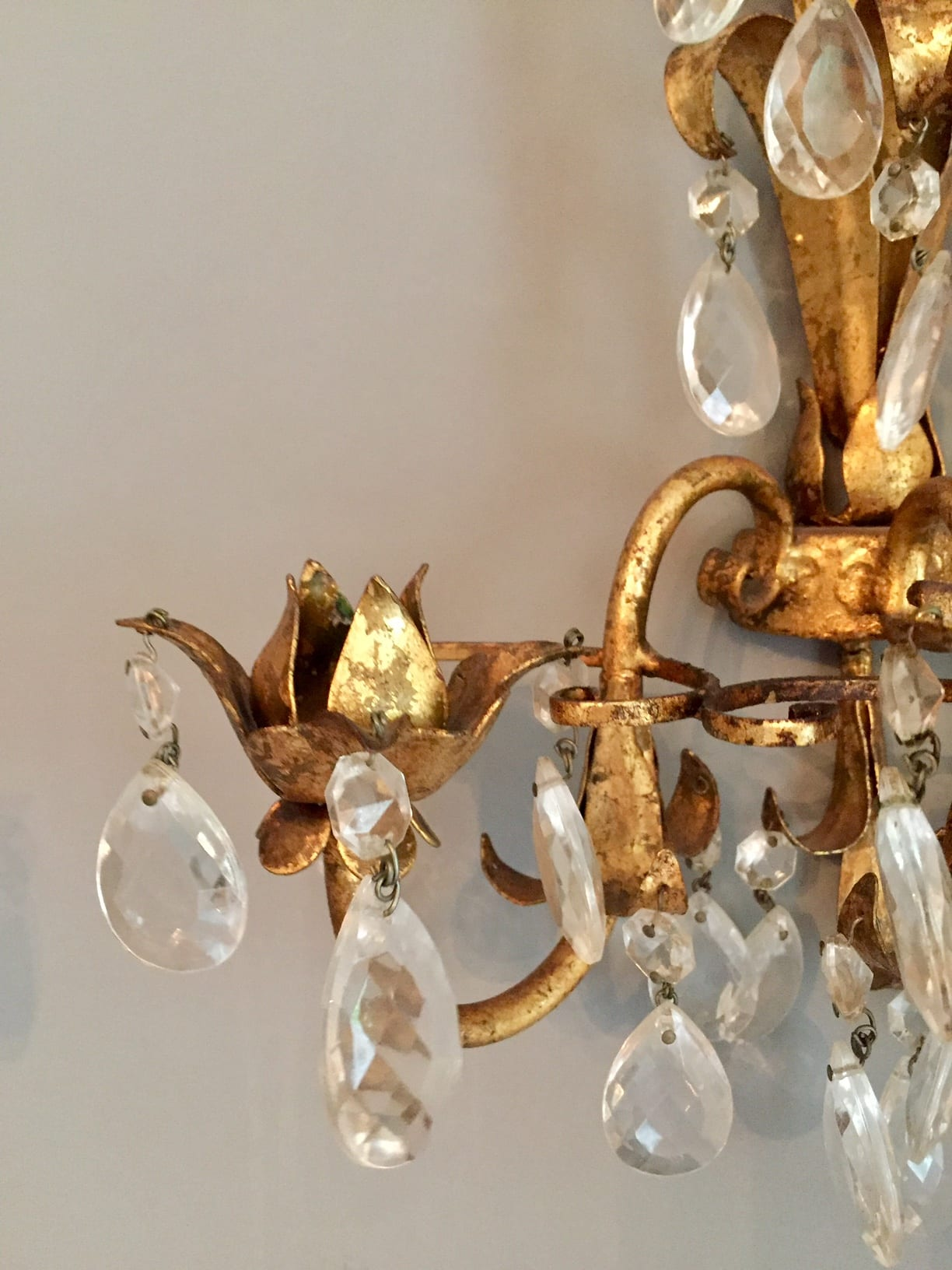 Italian Candle Wall Sconces : Pair of Italian 3 Candle Wall Sconces SOLD