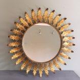 Spanish sunburst mirror detail