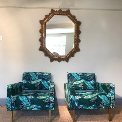 Spanish Mirror and chairs