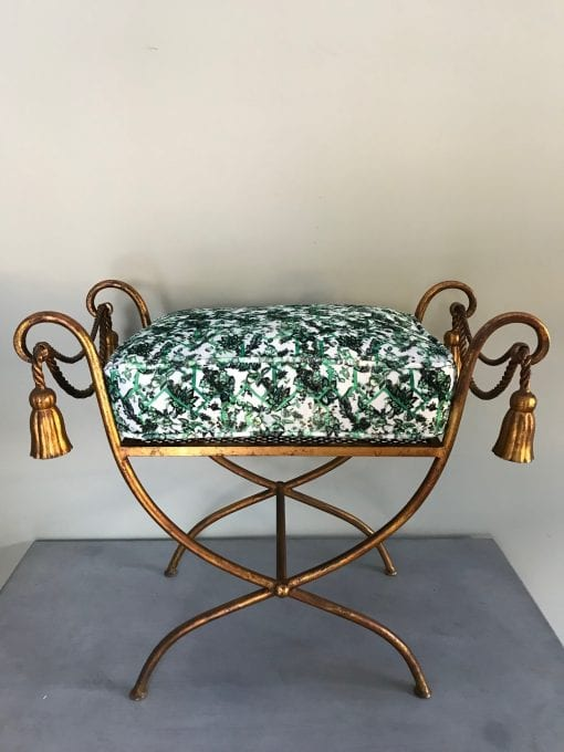 Gold Stool cushion