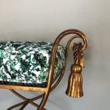 Gold stool cushion 2