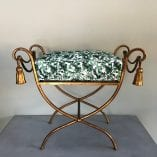Gold stool cushion 4