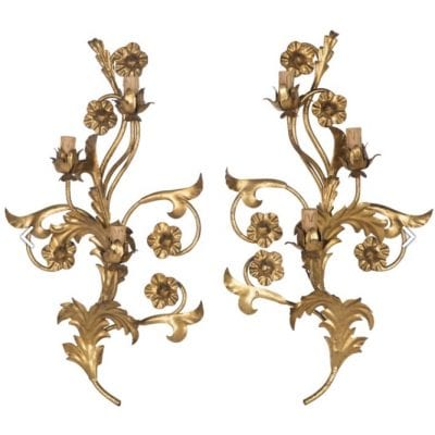Gold Foliate Wall Sconces