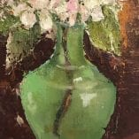 Flowers in Green Vase 2