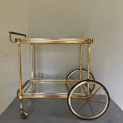 Gold Trolley Large Wheel