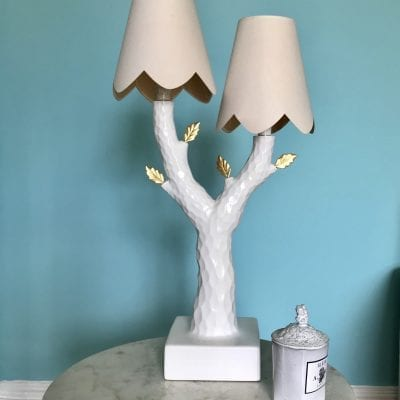 Tree lamp blue