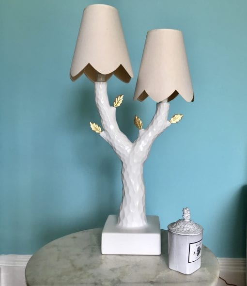 Tree lamp blue