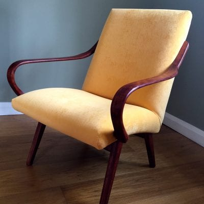 Mid Century Czech Lounge Chair