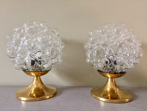 bubble lamps pair