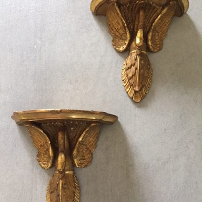 Swan shelves pair