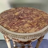 Oval Table Marble Top