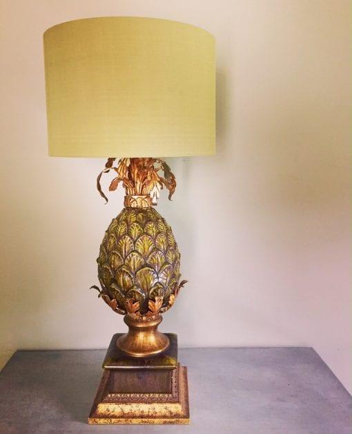 Majolica lamp