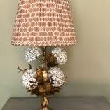 Hydrangea Lamp 5 ikat shade