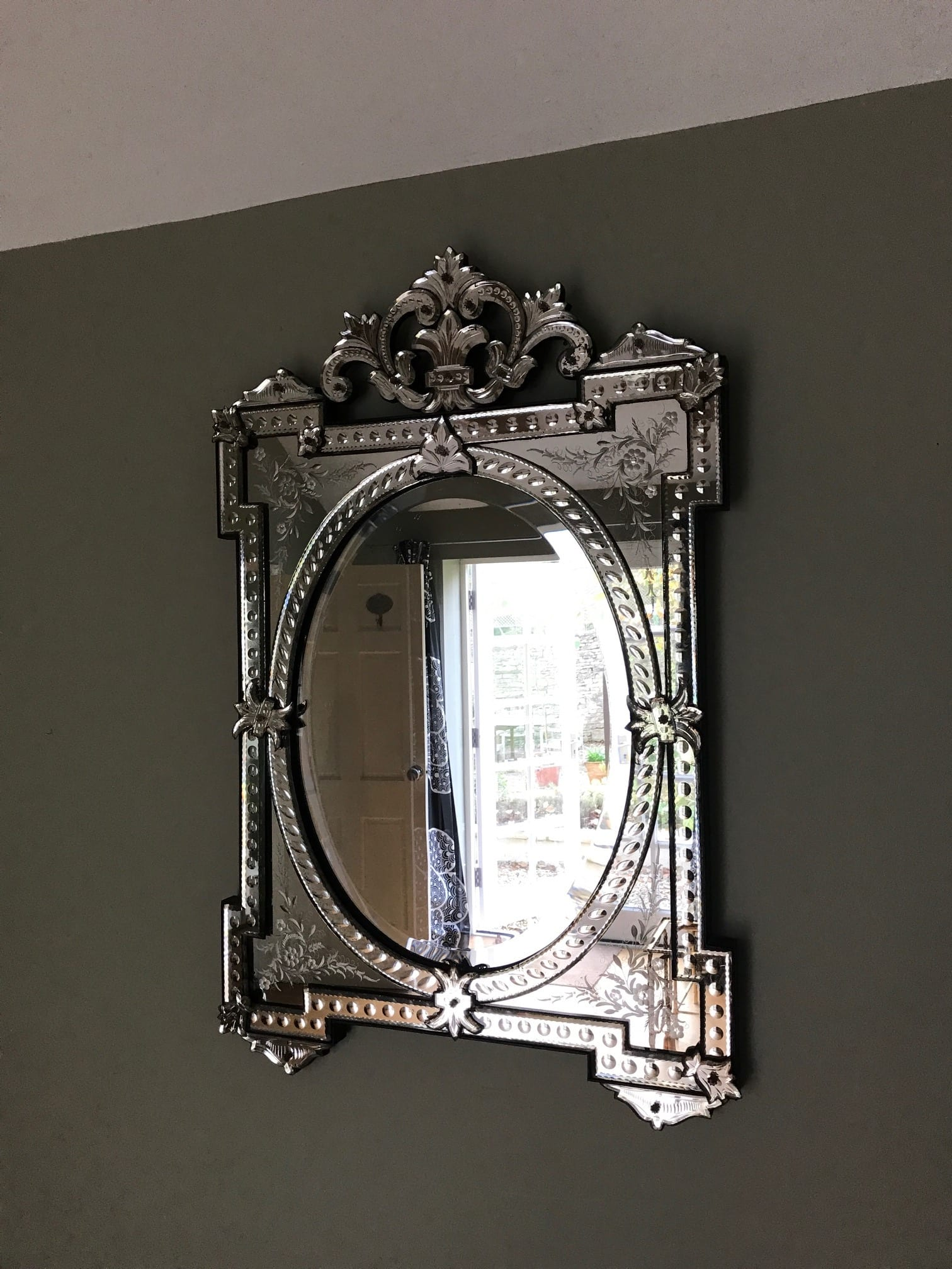 Large Venetian Mirror 1920s Sold