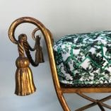 Gold stool cushion 3