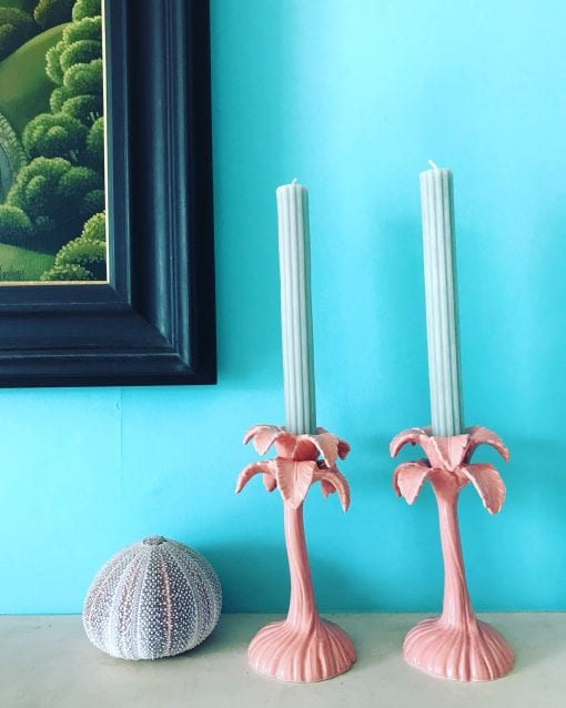 Small Pink Candlesticks