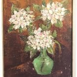 Flowers in Green Vase 1