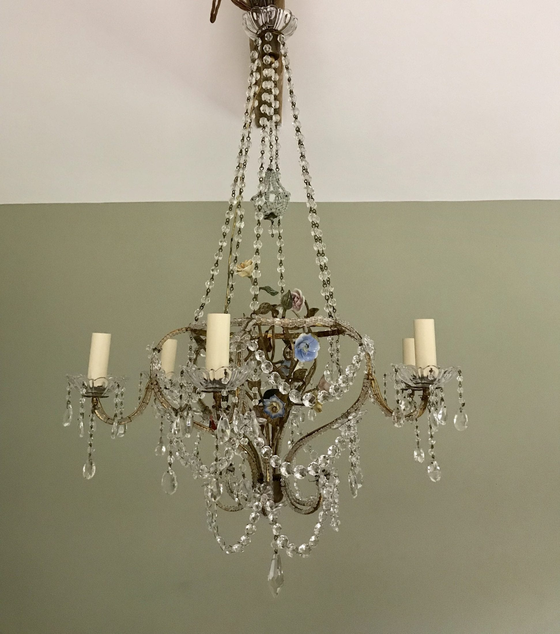 fe511ae350 19th Century French Crystal Chandelier – SOLD