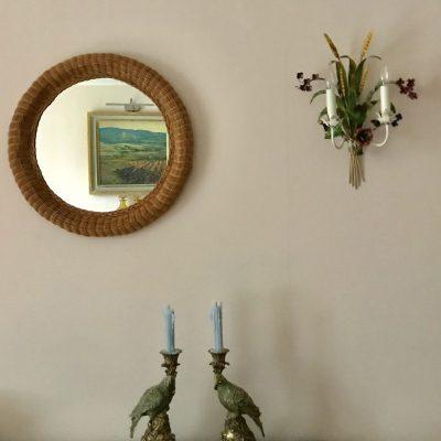 Rattan Mirror main