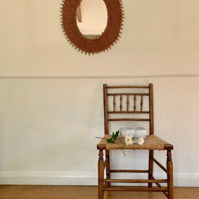rattan mirror chair
