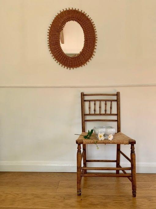 rattan mirror chair