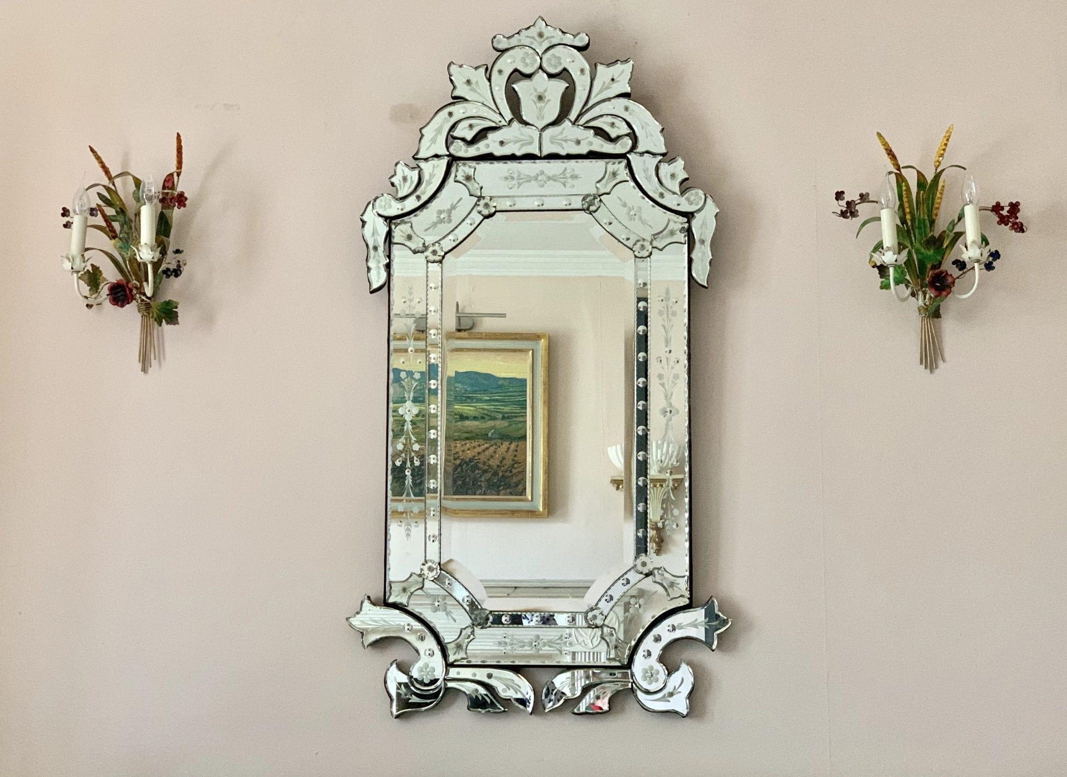 Fabulous Large Venetian Mirror 1930s Sold
