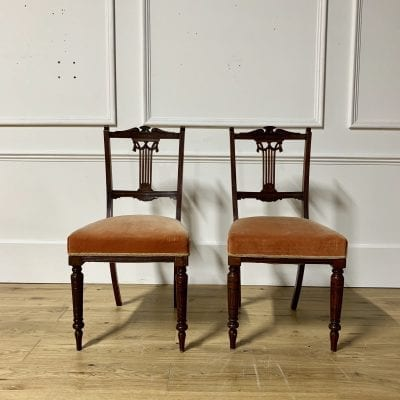 Pair Mahogony chairs