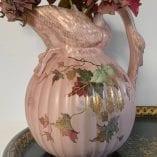 Pink swan vase 2