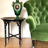 Green sofa and Gree Vase