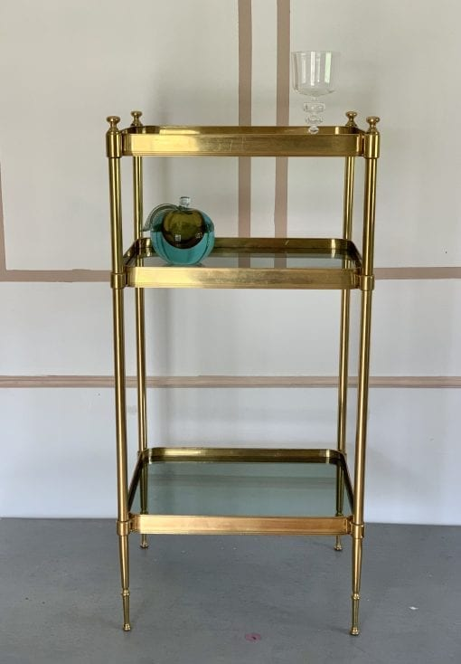Tall Brass Table