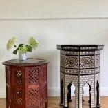 Indian Brass table pair