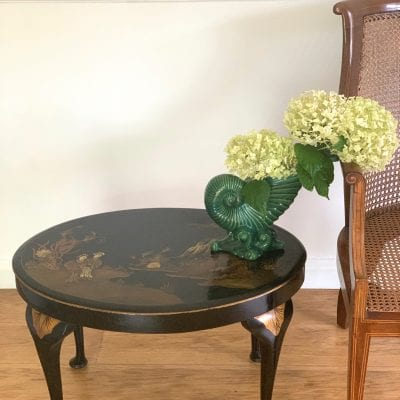 Black Chinoserie table
