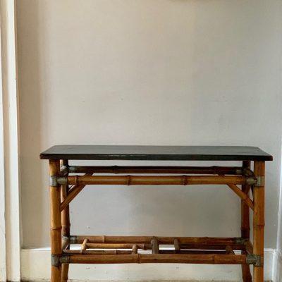 Bamboo ebonised table