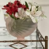Pick glass vase 3