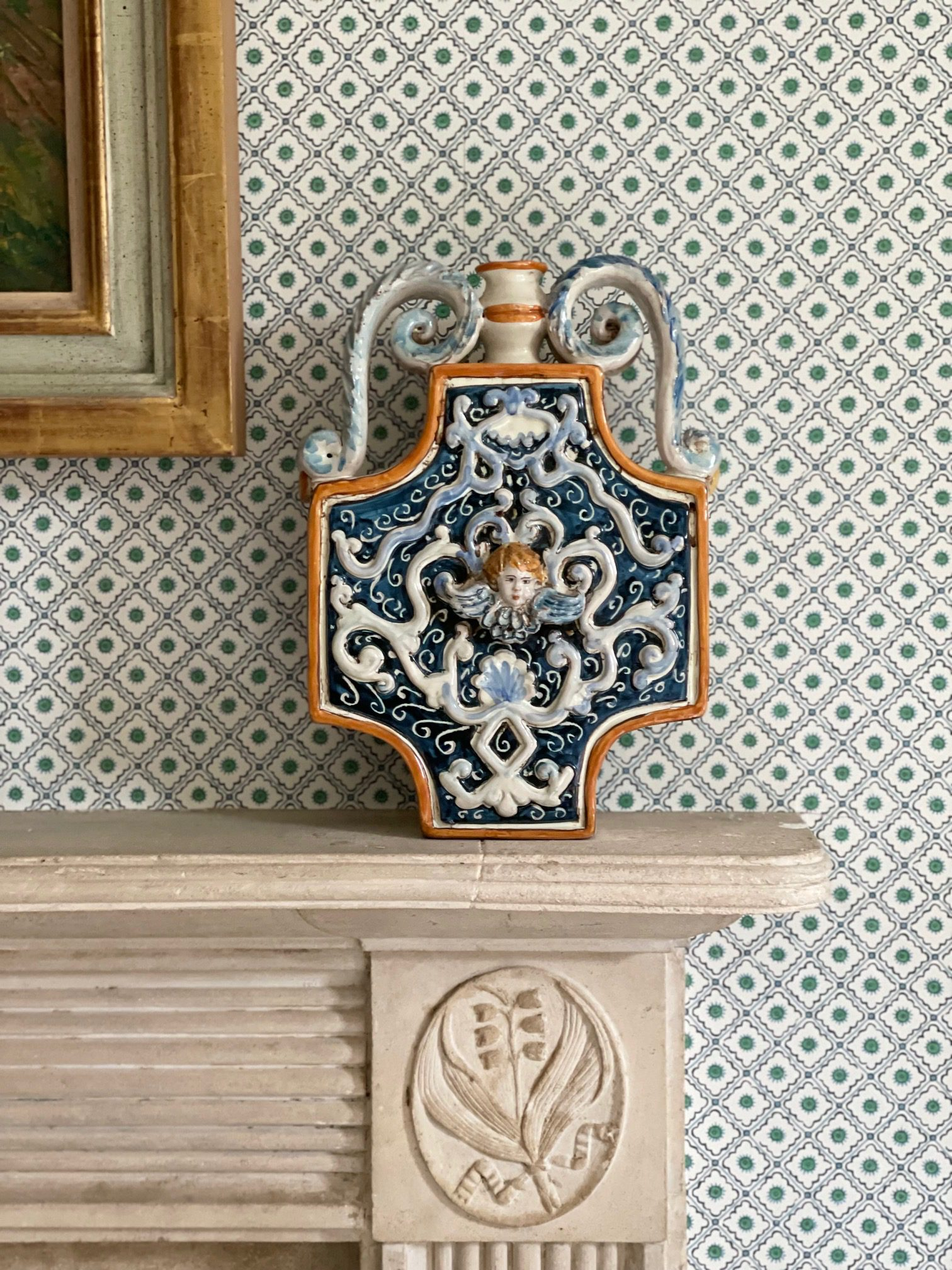 Italian Blue Vase 1